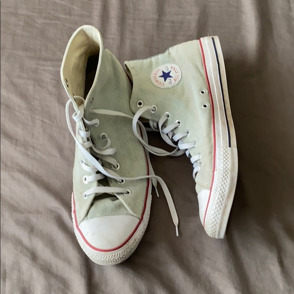 Converse Other - White Converse High Top Shoes